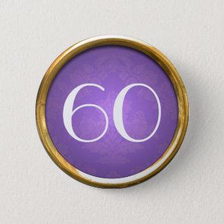 銀製の端が付いているボタン60年のテンプレート 5.7CM 丸型バッジ