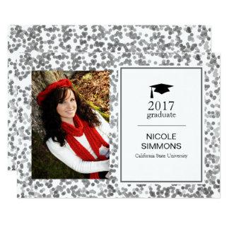 銀製の紙吹雪の卒業生の写真カード 12.7 X 17.8 インビテーションカード