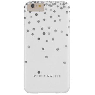 銀製の紙吹雪の点 BARELY THERE iPhone 6 PLUS ケース