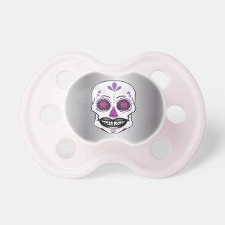 銀製の紫色キャンデーのスカルの調停者 おしゃぶり