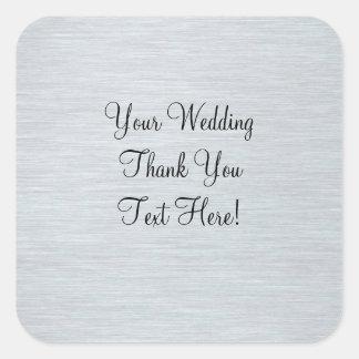 銀製の結婚式の引き出物はステッカー感謝していしています スクエアシール