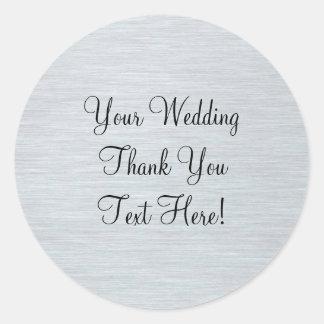 銀製の結婚式の引き出物はステッカー感謝していしています ラウンドシール