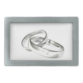 銀製の結婚指輪は日付を救います 長方形ベルトバックル
