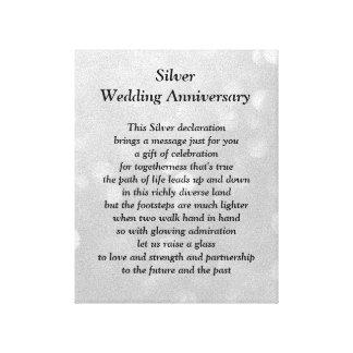 銀製の結婚記念日のキャンバス キャンバスプリント