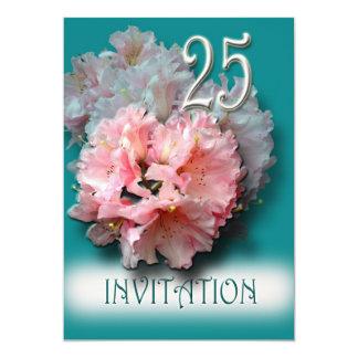 銀製の結婚記念日の招待状 カード