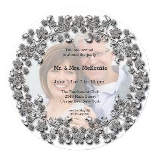 銀製の結婚記念日 カード