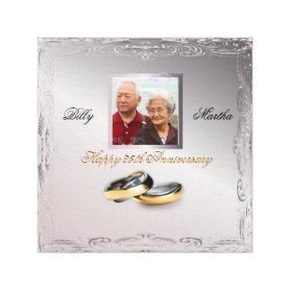 銀製の結婚記念日 キャンバスプリント