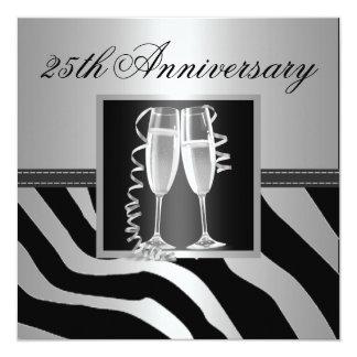 銀製の結婚記念日 13.3 スクエアインビテーションカード