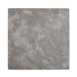 銀製の背景の白いインク ウッドコースター
