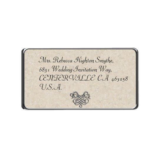 銀製の華麗さの結婚式の宛名ラベル 宛名ラベル