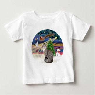 銀製の虎猫-クリスマスの魔法 ベビーTシャツ