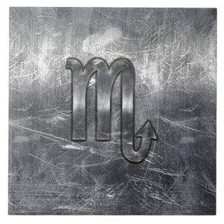 銀製の蠍座の(占星術の)十二宮図の印の動揺してな金属のスタイル タイル