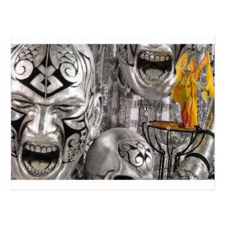 銀製の謝肉祭の仮面舞踏会 ポストカード