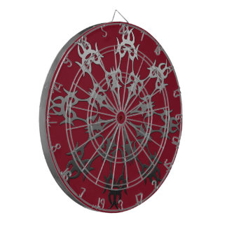 銀製の赤く黒い煉瓦民族の抽象芸術 ダーツボード