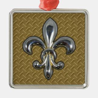 銀製の金ゴールドの(紋章の)フラ・ダ・リニュー・オーリンズ メタルオーナメント