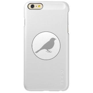 銀製の金属の灰色の鳥のiPhoneの保護装置 Incipio Feather Shine iPhone 6 Plusケース