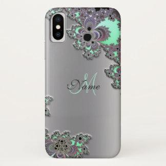 銀製の金属フラクタルのiPhone Xの箱を個人化して下さい iPhone X ケース