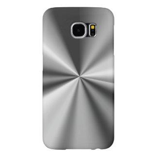 銀製の金属一見 SAMSUNG GALAXY S6 ケース