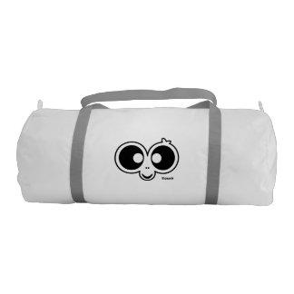 銀製の革紐と白いZazooのDuffleの体育館のバッグ ジムバッグ