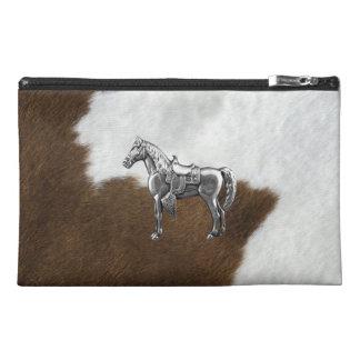 銀製の馬の革靴のプリント-旅行アクセサリーバッグ トラベルアクセサリーバッグ