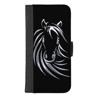 銀製の馬頭部 iPhone 8/7 PLUS ウォレットケース