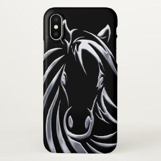 銀製の馬頭部 iPhone X ケース