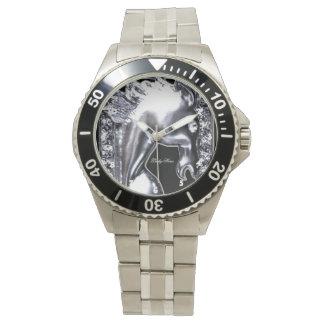 銀製の馬 腕時計