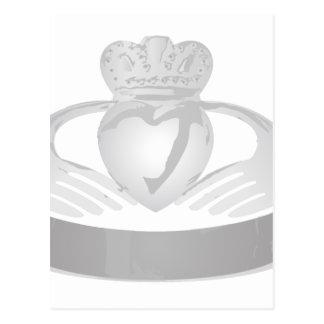 銀製のcladdaghのリングや輪 ポストカード