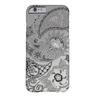 銀製のMehndiパターンデザインのiPhone6ケースカバー Barely There iPhone 6 ケース