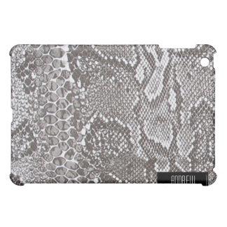 銀製のSnakeskinの皮のiPad iPad Miniケース