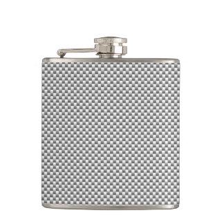 銀製カーボン繊維のスタイルのプリント フラスク