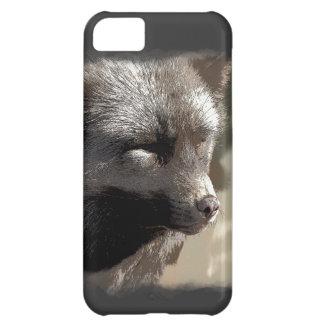 銀製キツネの野生動物のキツネ恋人の野性生物のアートワーク iPhone5Cケース