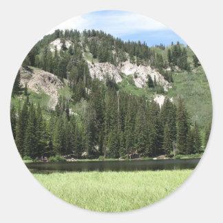 銀製湖 ラウンドシール