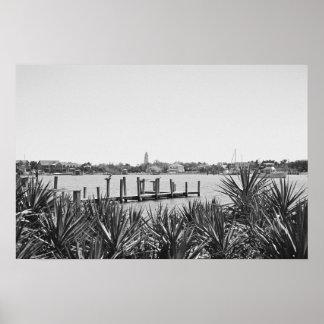 銀製湖: Ocracoke、NC ポスター