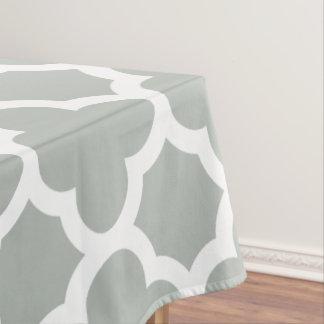 銀製灰色のクラシックなクローバーのテーブルクロス テーブルクロス