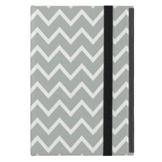 銀製灰色のジグザグ形シェブロン iPad MINI ケース