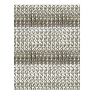 銀製灰色のストライプのテンプレートDIYは文字の写真を加えます レターヘッド