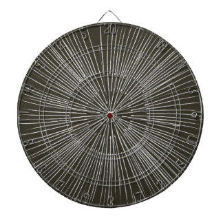 銀製灰色のスポーク円パターン暗闇板 ダーツボード