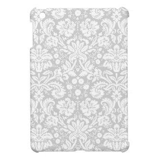 銀製灰色のダマスク織パターン iPad MINIケース
