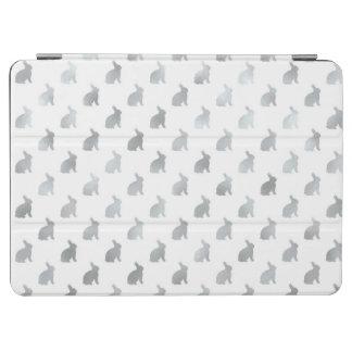 銀製灰色のバニーの背景模造のなホイルの灰色 iPad AIR カバー