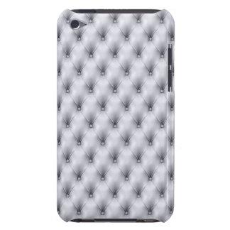 銀製灰色のボタンをかけられた房の革プラシ天 Case-Mate iPod TOUCH ケース