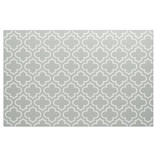 銀製灰色のモロッコの格子垣パターン生地02 ファブリック