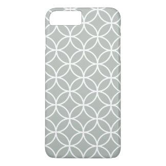 銀製灰色の幾何学的なiPhone 7のプラスの場合 iPhone 8 Plus/7 Plusケース