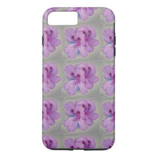 銀製灰色の携帯電話の箱の紫色の花 iPhone 8 PLUS/7 PLUSケース