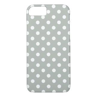 銀製灰色の水玉模様のiPhone 7の場合 iPhone 8/7ケース