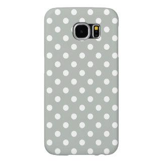 銀製灰色の水玉模様のSamsungの銀河系S6の箱 Samsung Galaxy S6 ケース