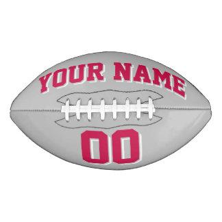 銀製灰色の深紅色の赤と白のカスタムなフットボール アメリカンフットボール