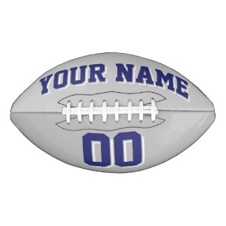 銀製灰色の濃紺および白の習慣のフットボール アメリカンフットボール