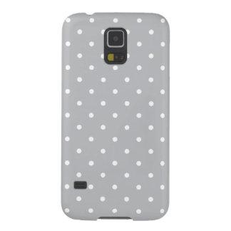 銀製灰色50sのスタイルの水玉模様の銀河系S5の箱 Galaxy S5 ケース