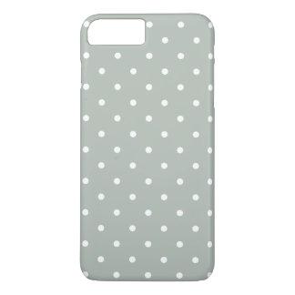 銀製灰色50sの水玉模様のiPhone 7のプラスの場合 iPhone 8 Plus/7 Plusケース